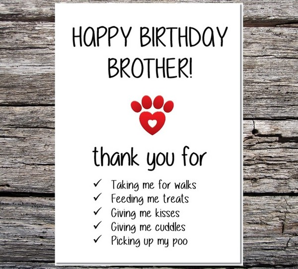 Happy Birthday Brother Funny Cards
