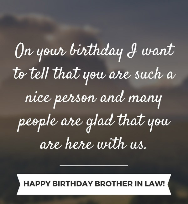Happy Birthday Brother In Law Wishes Quotes