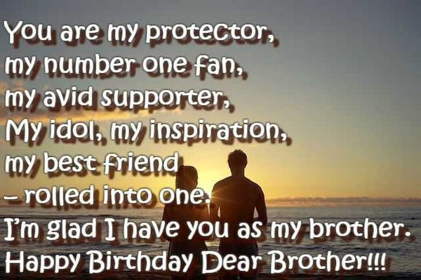 Happy Birthday Wishes Sms For Brother