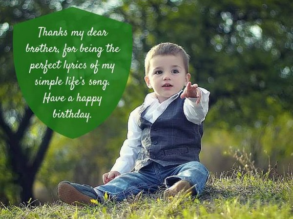 Small Birthday Wishes Quotes For Brother