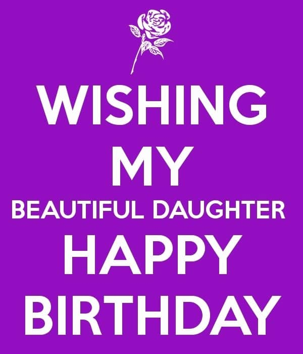 Birthday Wishes For Daughter From Father