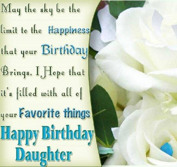 Birthday Wishes For Daughter On Facebook