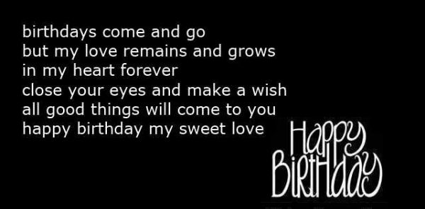 Happy Birthday Wishes Quotes For Lover