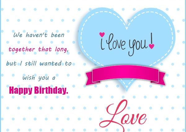 Sample Birthday Wishes For Lover