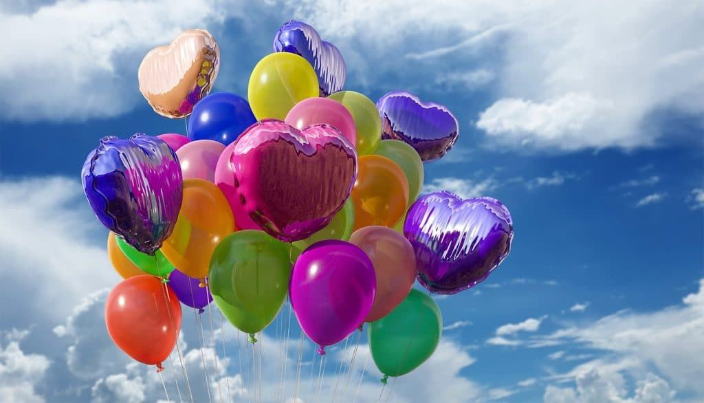 colorful floating ballons
