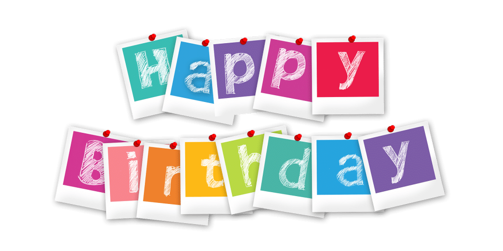 colorful happy birthday letters