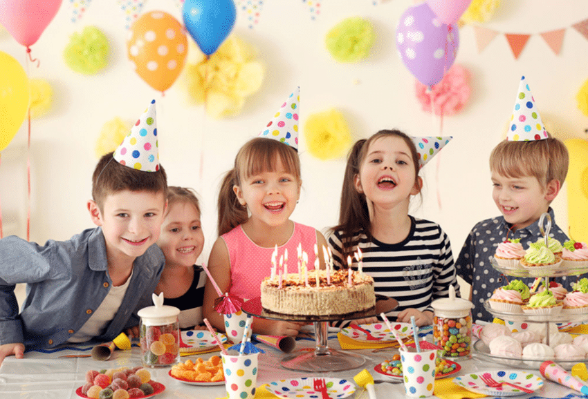 6 kids doing birthday party
