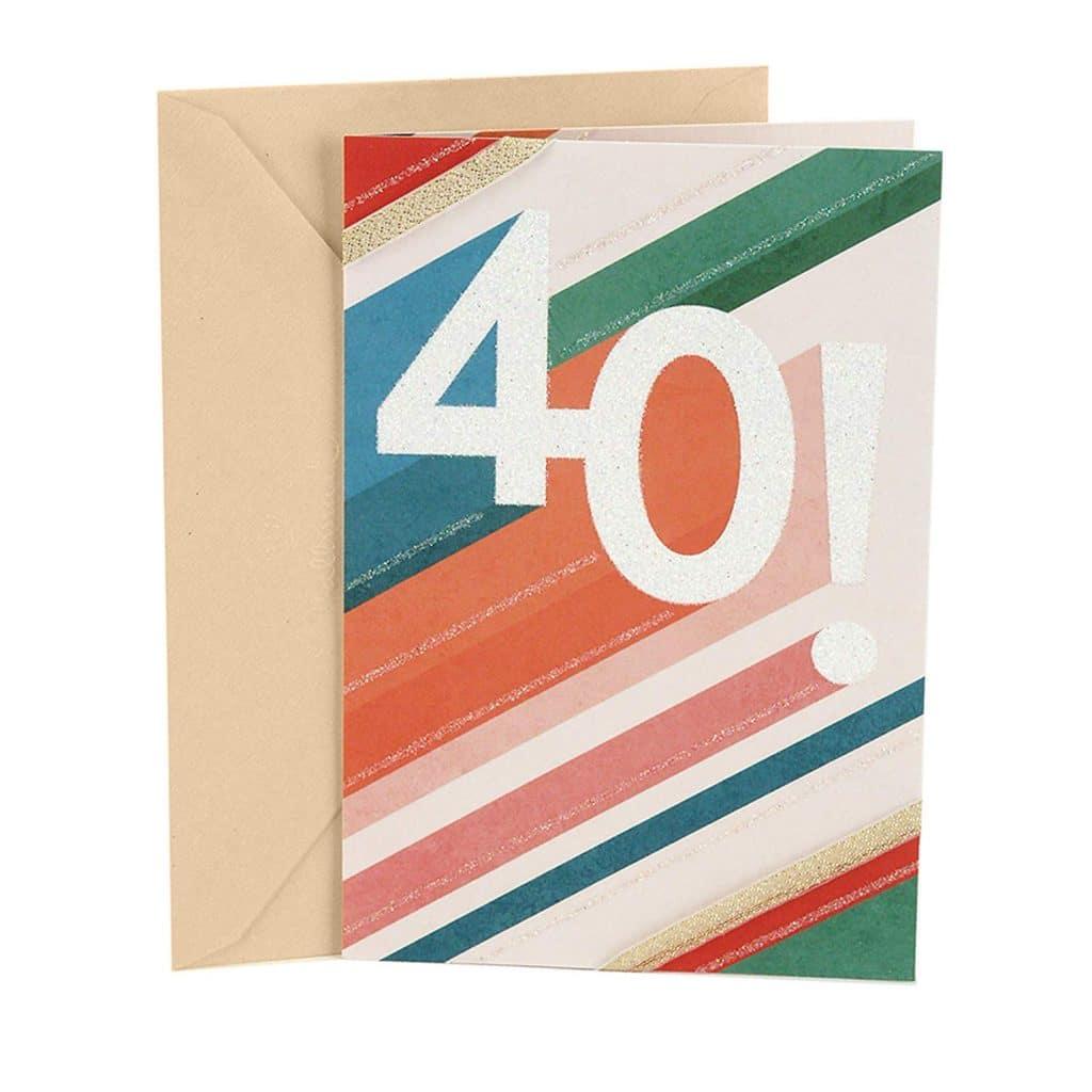 Hallmark 40th Birthday Card