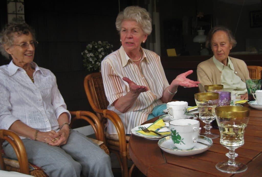 grandmas having a tea party