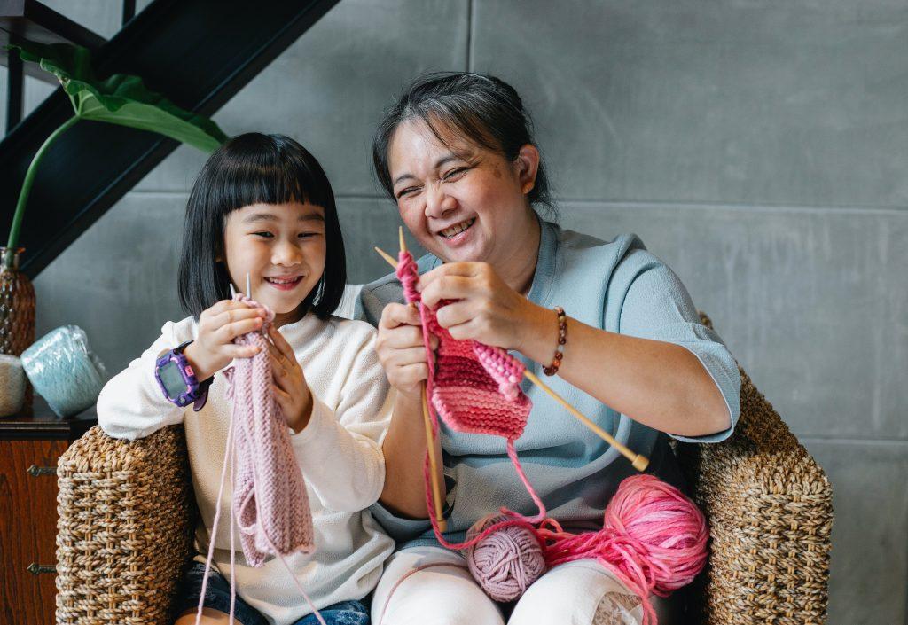 Mother Daughter Knitting